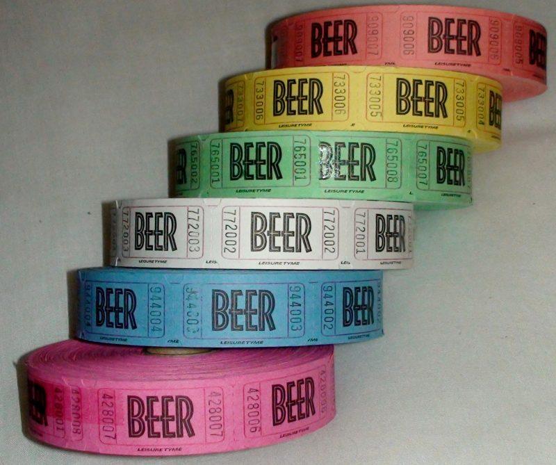 1000 beer tickets