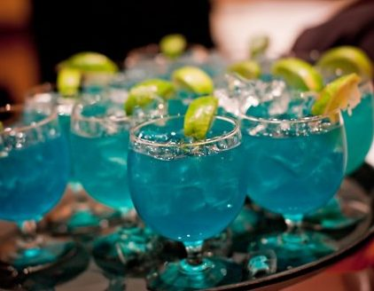 booze on a tray