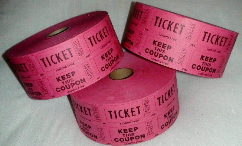 1000 double raffle tickets