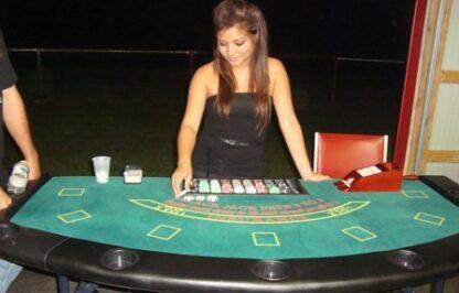 regular blackjack table