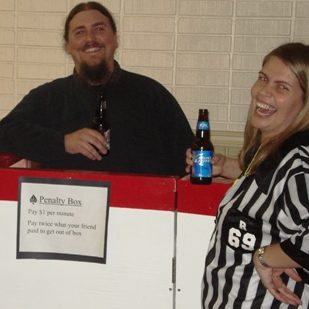 large penalty box in action