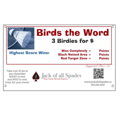 Birds the Word Sign