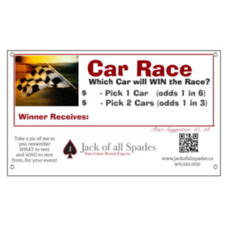 Car Race Sign