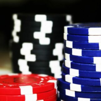 poker chips up close