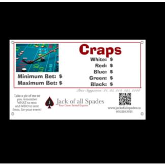 Craps Sign