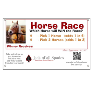 Horse Race Sign