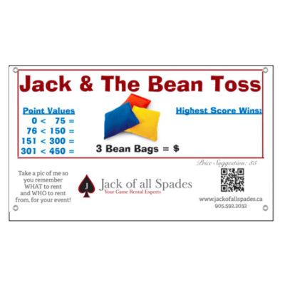 Jack and the Bean Toss Sign