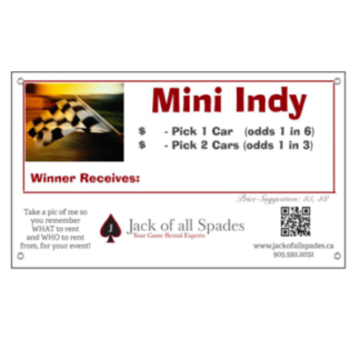 Mini Indy Sign