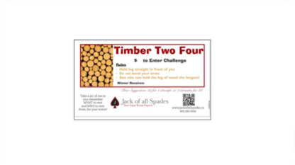 Timber Two Four Sign
