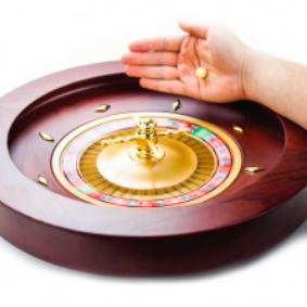 "18"" Mahogany Roulette Wheel"