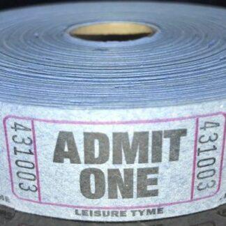 Blue Admit One Tickets