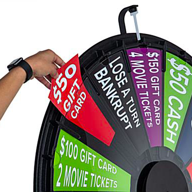 """How to assemble 44"""" Prize Wheel"""